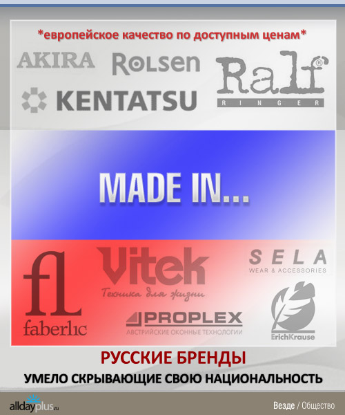 MADE IN... Русские бренды, умело скрывающие свою национальность