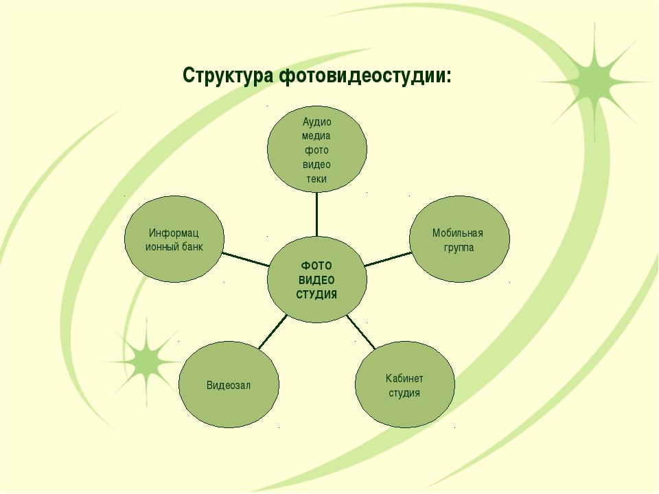 Структура фотовидеостудии: