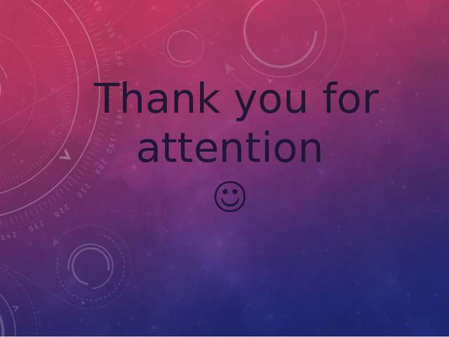 Thank you for attention 