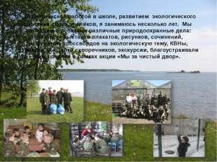 Экологической работой в школе, развитием экологического сознания своих учени