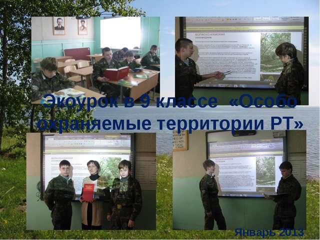 Экоурок в 9 классе «Особо охраняемые территории РТ» Январь 2013