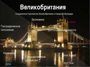 Великобритания Население Географическое положение Государственное устройство