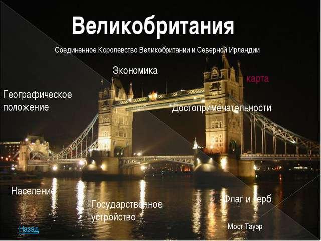 Великобритания Население Географическое положение Государственное устройство...