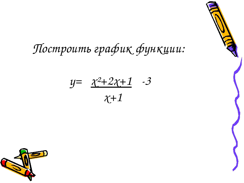 Построить график функции: y= x²+2x+1 -3 x+1