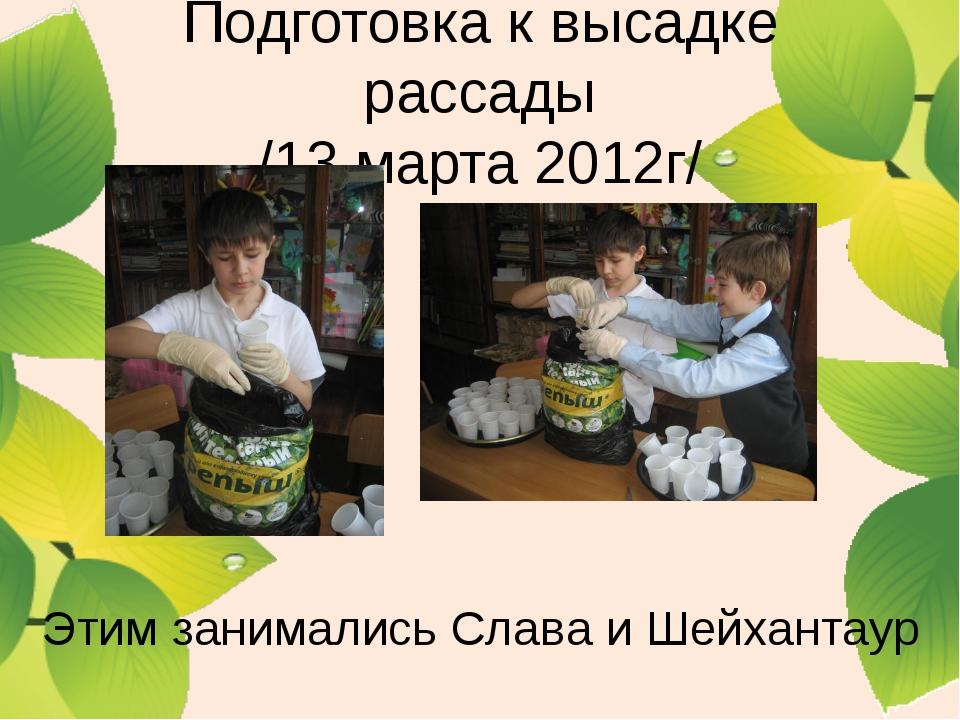 Подготовка к высадке рассады /13 марта 2012г/ Этим занимались Слава и Шейхант...
