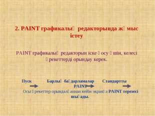 2. PAINT графикалық редакторында жұмыс істеу PAINT графикалық редакторын іск