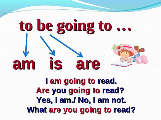 to be going to … am is are I am going to read. Are you going to read? Yes, I...
