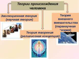 Теория внешнего вмешательства (паранаучная теория) Теории происхождения челов