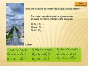 Расставить коэффициенты в уравнениях реакций методом электронного баланса: