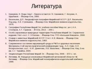 Литература Банников, Н. Воды текут – берега остаются / Н. Банников, Г. Косухи