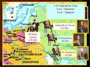 Летом 1812 г. французская ар-мия численностью 600 000 человек сосредоточилась