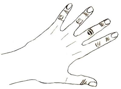Как нарисовать руку, шаг 5