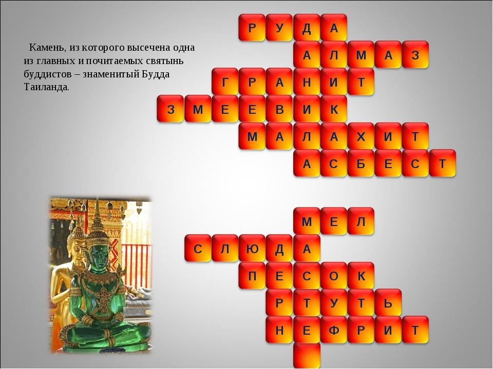 Камень, из которого высечена одна из главных и почитаемых святынь буддистов...
