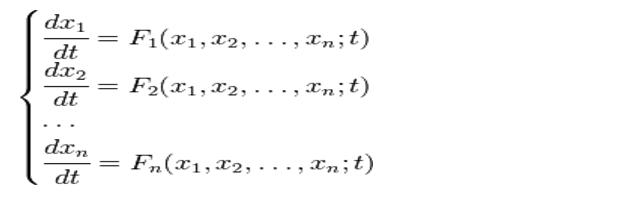 Системы дифференциальных уравнений