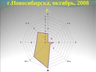 Роза ветров, г.Новосибирска, октябрь, 2008 г.