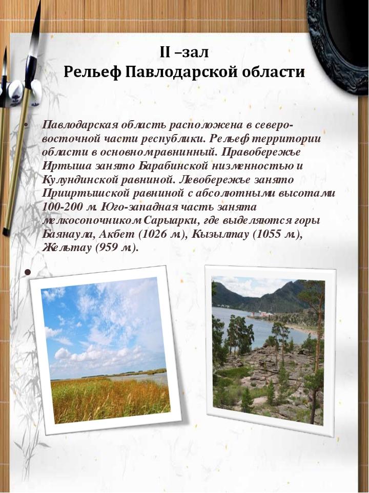 Павлодарская область расположена в северо-восточной части республики. Рельеф...
