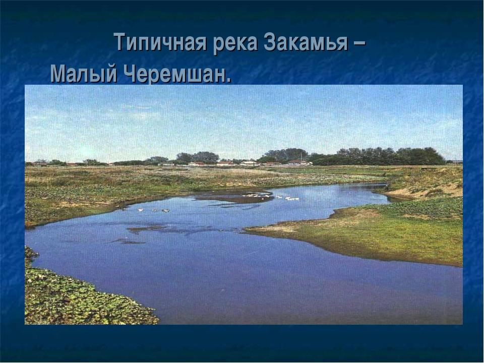 Типичная река Закамья – Малый Черемшан.