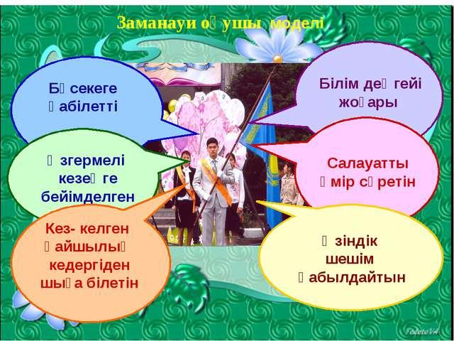 Заманауи оқушы моделі Бәсекеге қабілетті Өзгермелі кезеңге бейімделген Кез- к...