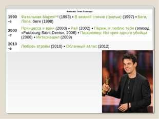 Фильмы Тома Тыквера 1990-еФатальная Мария[de] (1993) • В зимней спячке (фил