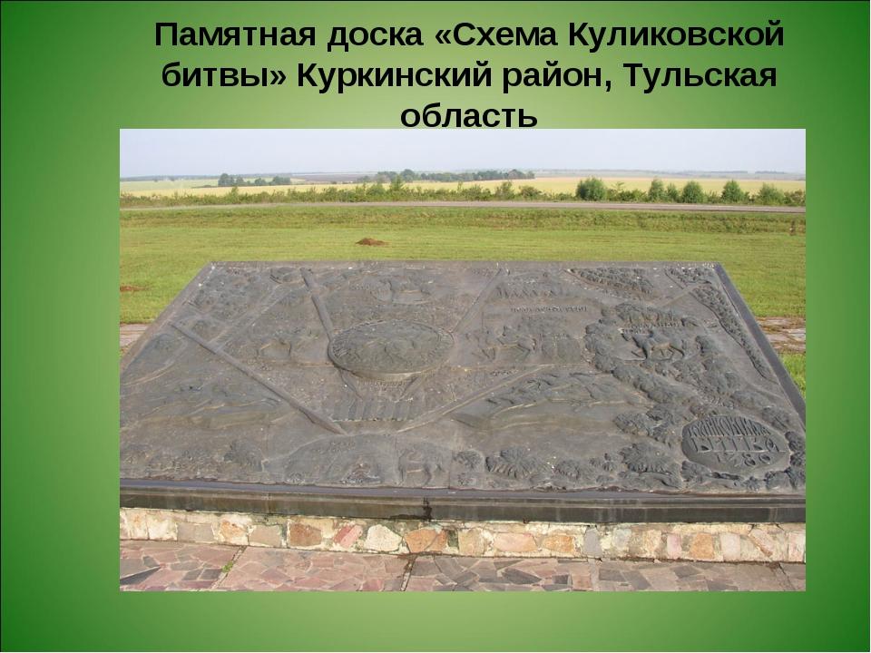 Памятная доска «Схема Куликовской битвы» Куркинский район, Тульская область