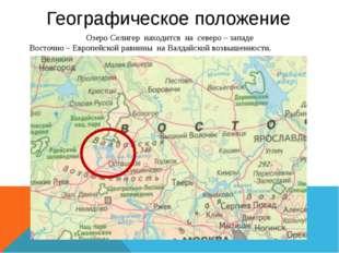 Географическое положение Озеро Селигер находится на северо – западе Восточно