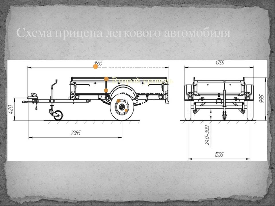 Схема прицепа легкового автомобиля