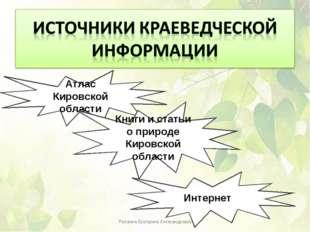 Атлас Кировской области Книги и статьи о природе Кировской области Интернет Р