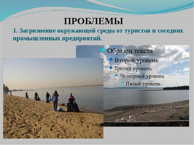 ПРОБЛЕМЫ 1. Загрязнение окружающей среды от туристов и соседних промышленных...