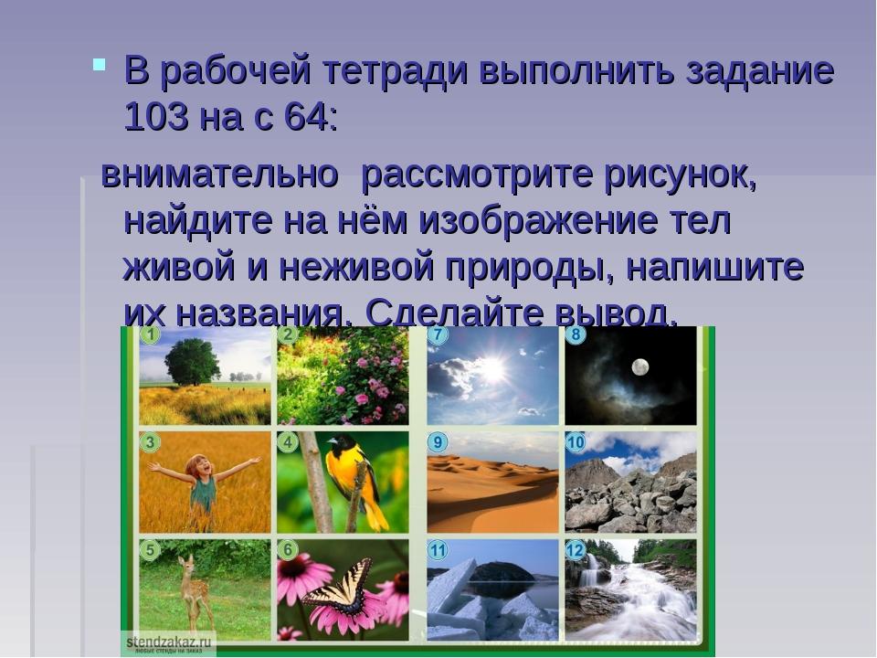 В рабочей тетради выполнить задание 103 на с 64: внимательно рассмотрите рис...