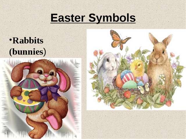 Easter Symbols Rabbits (bunnies)
