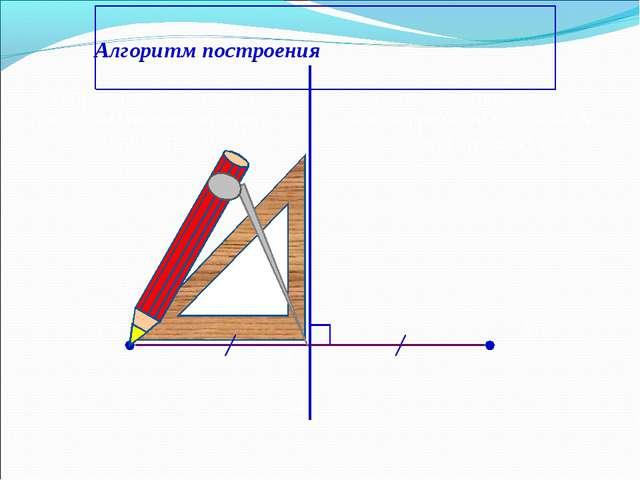 Алгоритм построения А А1 а 1) Проведём через точку А прямую АO,перпендикуляр...