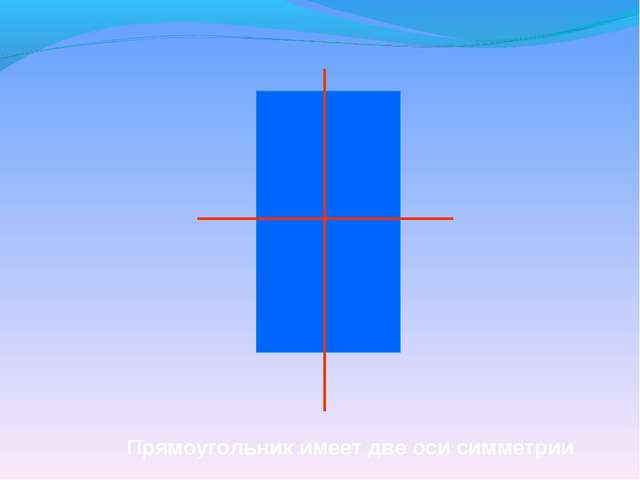 Прямоугольник имеет две оси симметрии