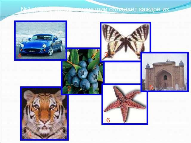 №1. Каким видом симметрии обладает каждое из предложенных изображений? 1 2 3...