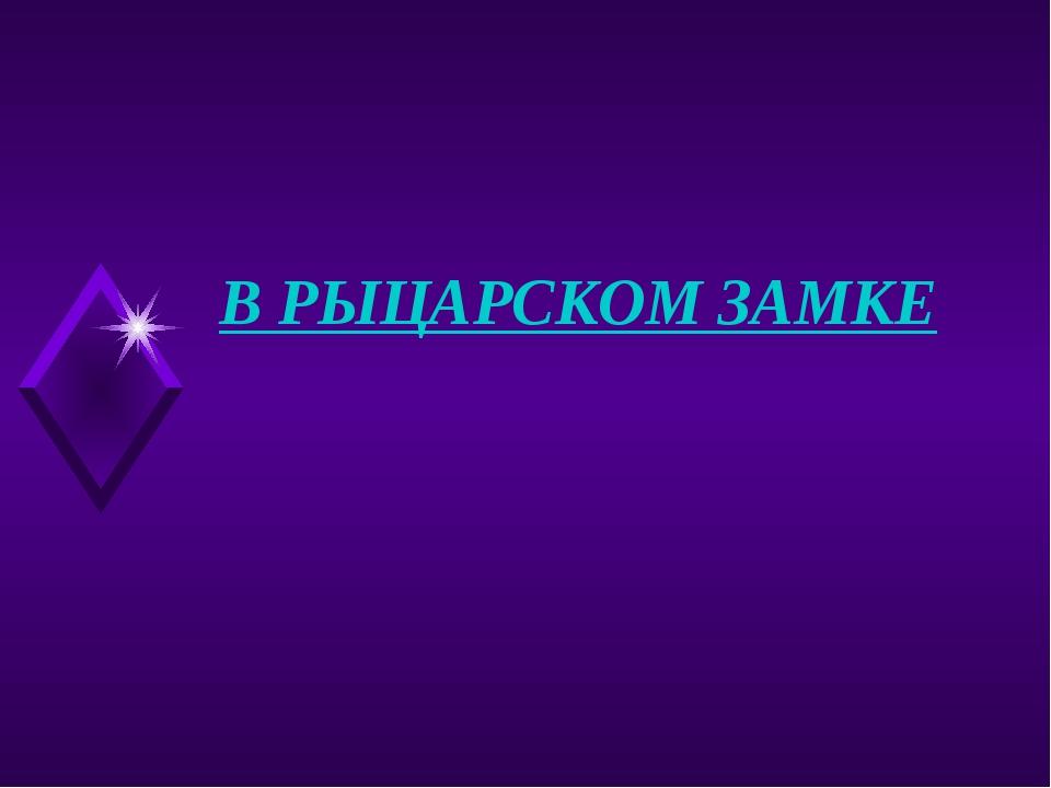 В РЫЦАРСКОМ ЗАМКЕ