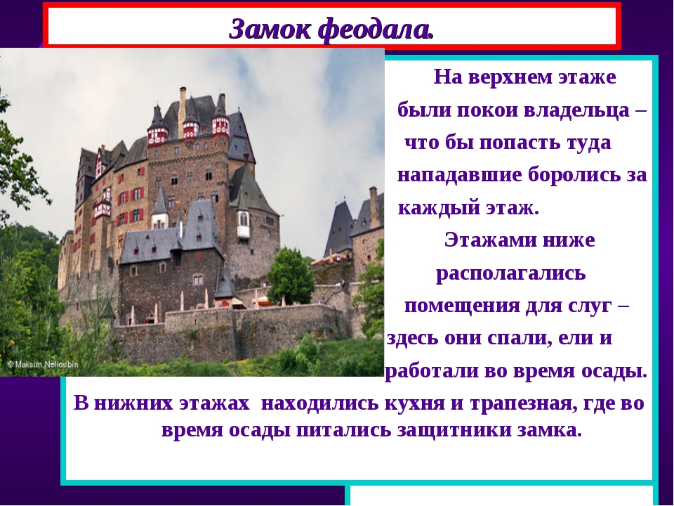 В центре замка располагался донжон-главная башня, состоящая из 3-4 этажей. Из...