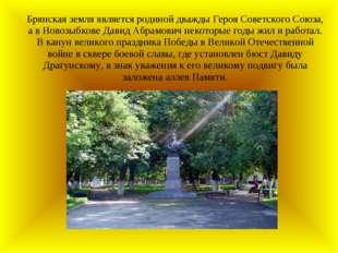 Брянская земля является родиной дважды Героя Советского Союза, а в Новозыбков