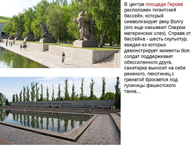 В центре площади Героев расположен гигантский бассейн, который символизирует...