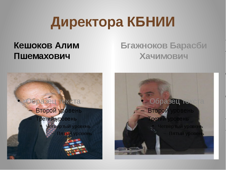 Директора КБНИИ Кешоков Алим Пшемахович Бгажноков Барасби Хачимович