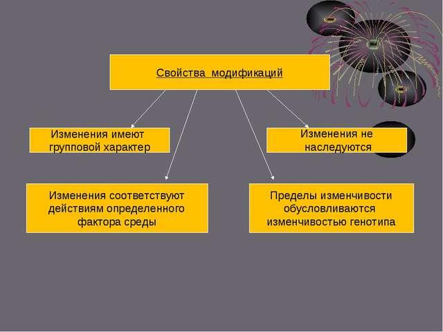 Свойства модификаций Изменения имеют групповой характер Изменения соответств...