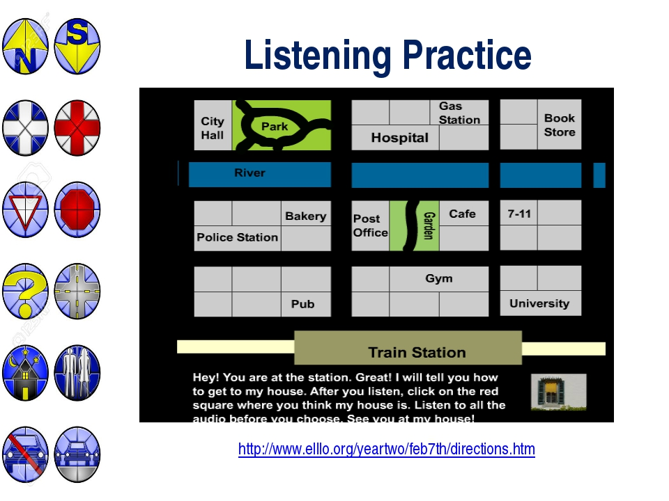 Listening Practice http://www.elllo.org/yeartwo/feb7th/directions.htm