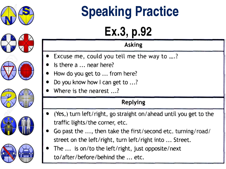 Speaking Practice Ex.3, p.92
