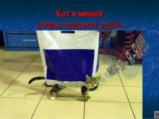 Кот в мешке вопрос придется отдать