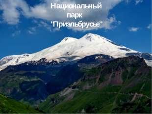 """Национальный парк """"Приэльбрусье"""""""