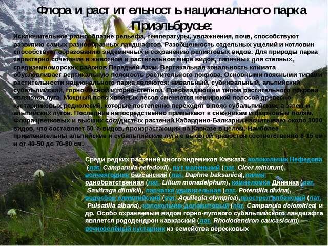 Исключительное разнообразие рельефа, температуры, увлажнения, почв, способств...