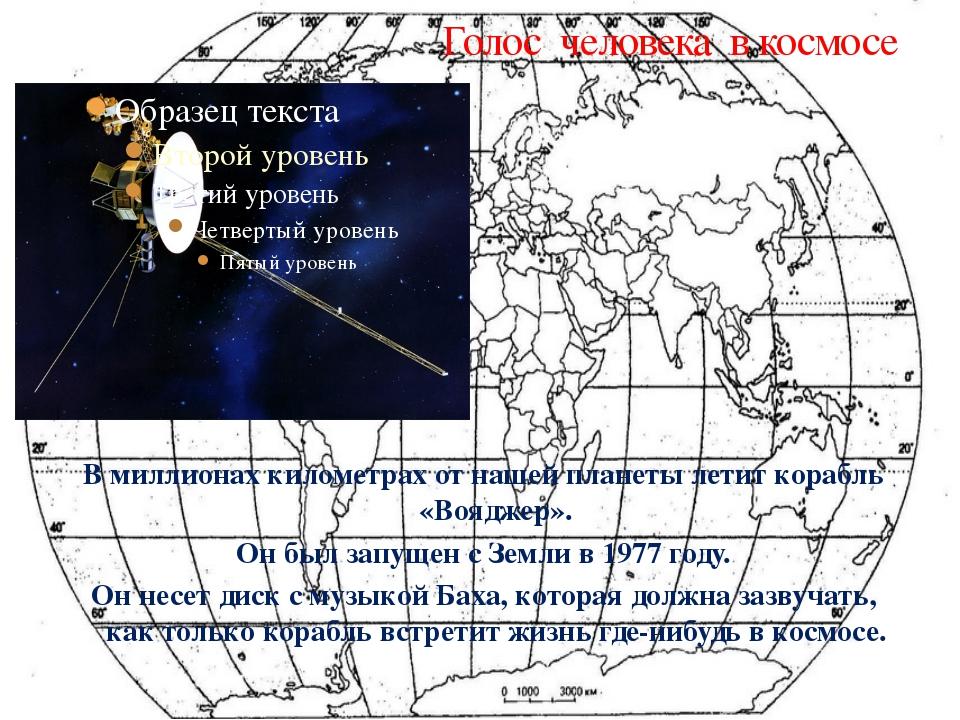 Голос человека в космосе В миллионах километрах от нашей планеты летит корабл...