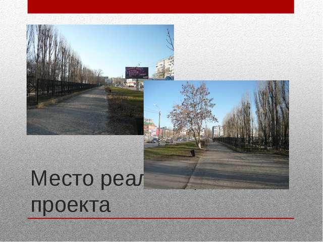 Место реализации проекта