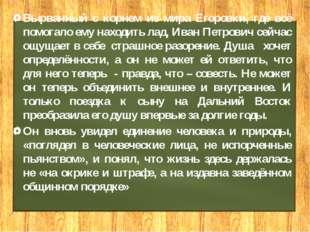 Вырванный с корнем из мира Егоровки, где всё помогало ему находить лад, Иван