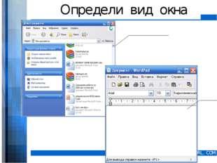 Определи вид окна WWW.YOUR-COMPANY-URL.COM
