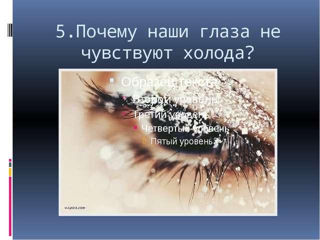 5.Почему наши глаза не чувствуют холода?