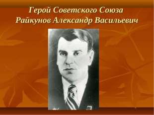 Герой Советского Союза Райкунов Александр Васильевич